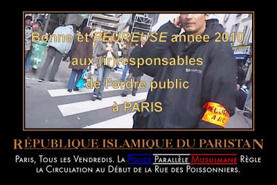 Rue de Paris occupée
