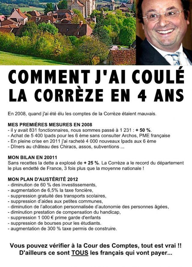 F Hollande a coulé la Corrèze en 4 ans